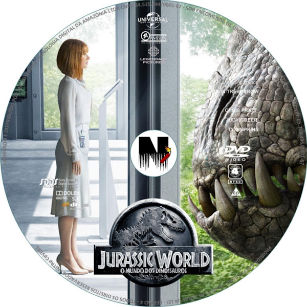 Label DVD Jurassic World O Mundo Dos Dinossauros