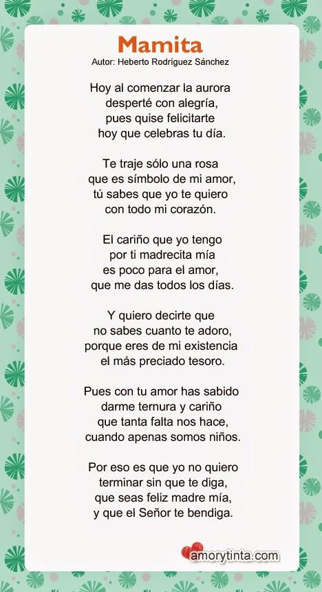 poema lindo para el dia de la madre