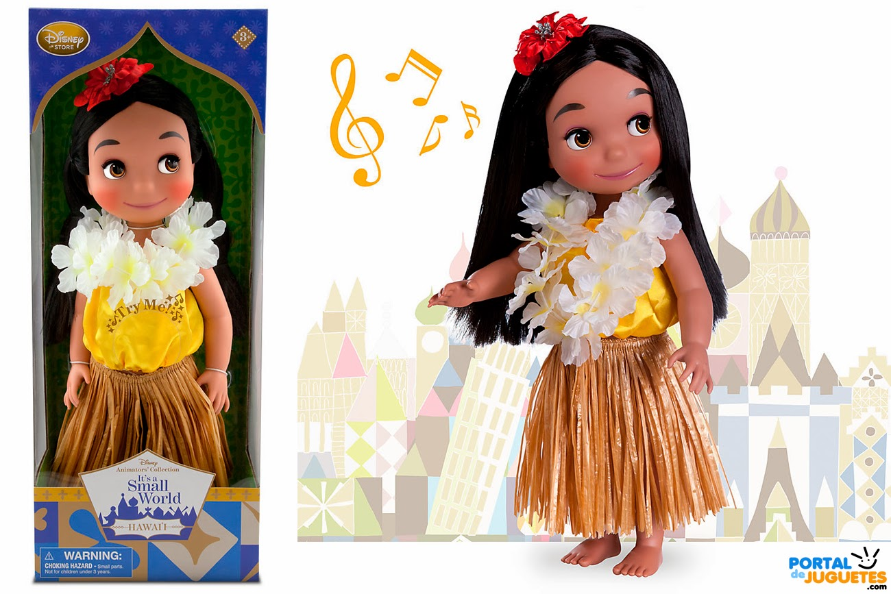 muñeca hawai its a small world disney animators