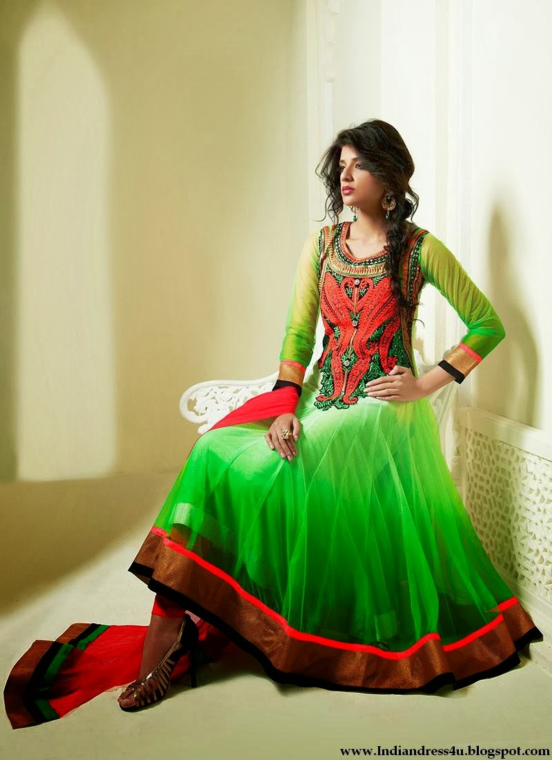 Fashion Designers New Anarkali Wedding Suits 2014