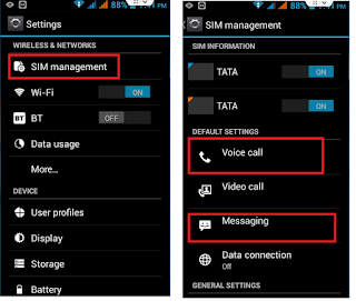 How to Set Default SIM for Call & SMS in Android Phone,SIM setting for call,default SIM setting,set defatul sim for outgoing voice call,default sim for messages,sms,dont ask sim,disal asking sim for call,set default sim in android phone,windows phone,iphone,sms sim setting,SIM Management,Data connection,video call,dont ask sim for calling,voice call sim setting,default sim set,make call for default sim,always ask,disable,turn off,dual sim setting