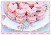 Sparkling Strawberry Cream Wafers