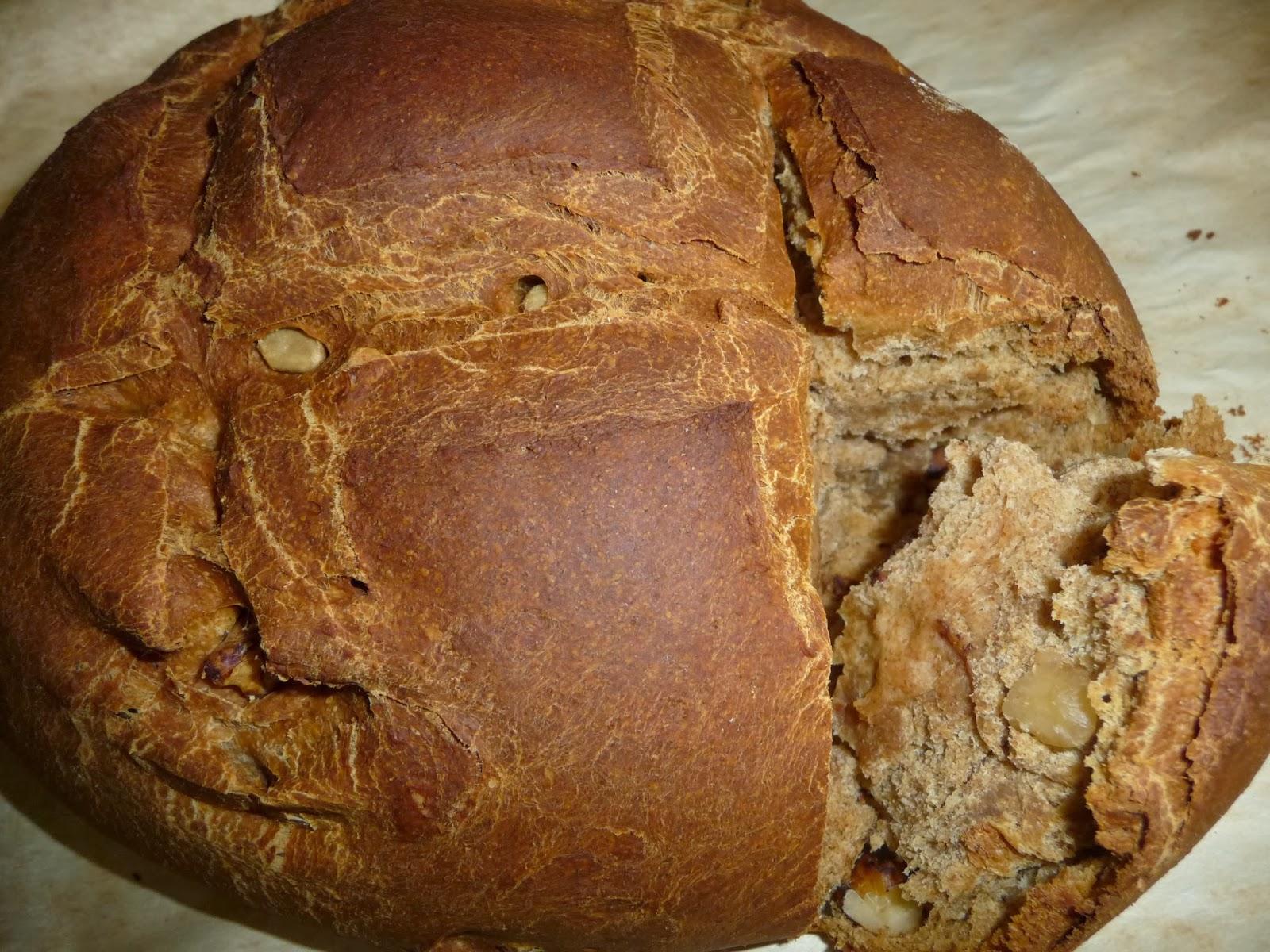 pane integrale noci e semi di girasole