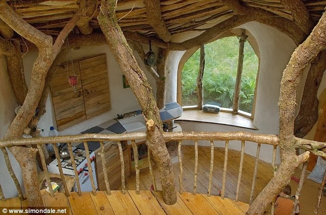 Man Builds Fairy Tale Home for His Family – Total Cost £3,000 - Hobbit Home View from Loft