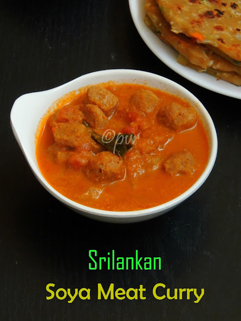 Soya meat Curry, Srilankan Soya meat curry