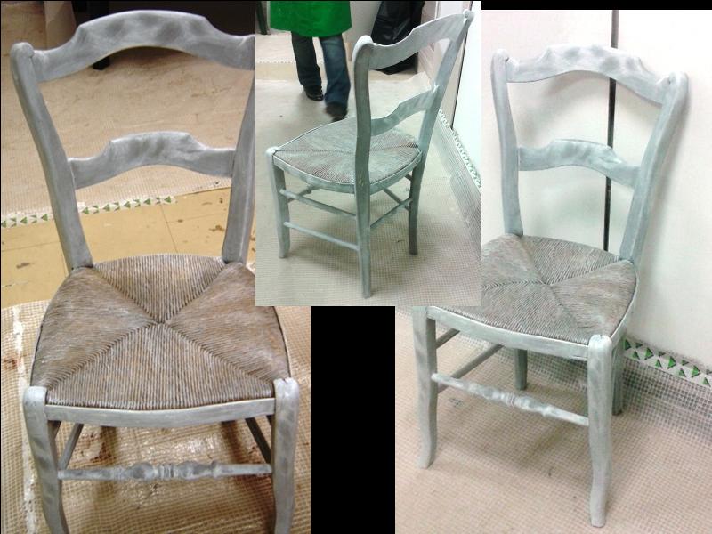 Peinture sur meuble effet blanchi patin c rus - Meuble effet patine ...