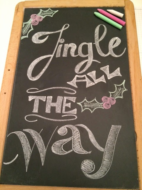 DIY Chalkboard Art Freehand