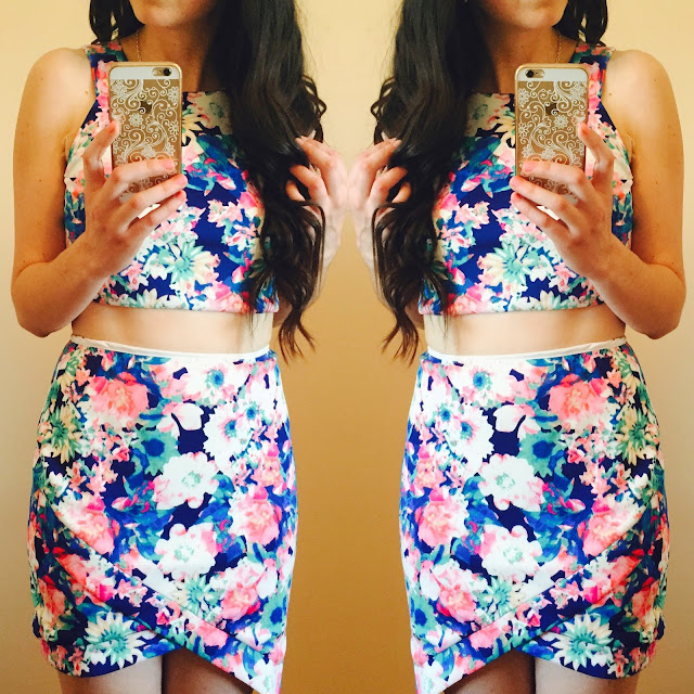 abs, working out, floral two piece set, floral set, floral dress, floral crop top, floral skirt, pretty, love, teen fashion, teen fashion outfits, crop top, 2 piece set,