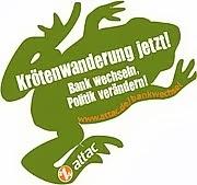 Krötenwanderung jetzt! Bank wechseln, Politik verändern!