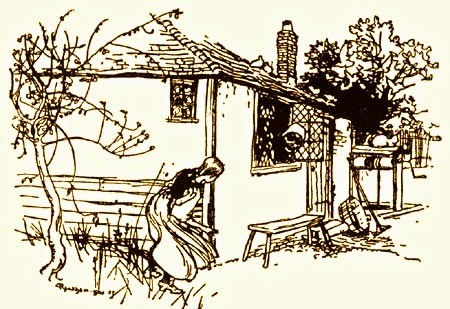 "Illustration from ""Mother Hulda"" by Arthur Rackham."