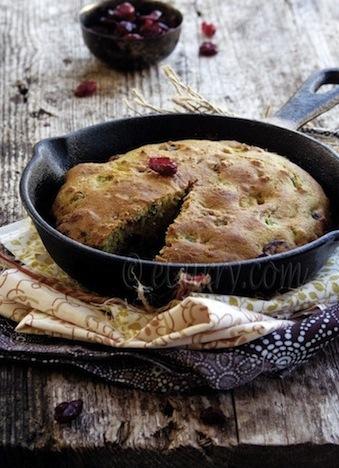 jalapeno cranberry skillet cornbread