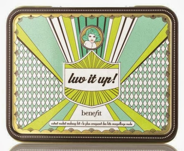 benefit Holiday kits creaseless cream shadow mini in r.s.v.p., longwear powder shadows in call my buff, nude swings, thanks a latte, ultra plush lipgloss mini in dandelion