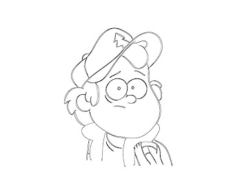 #10 Dipper Pines Coloring Page