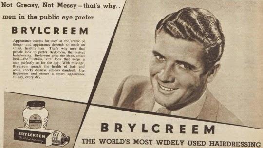 vintage ad, Brylcreem 1955