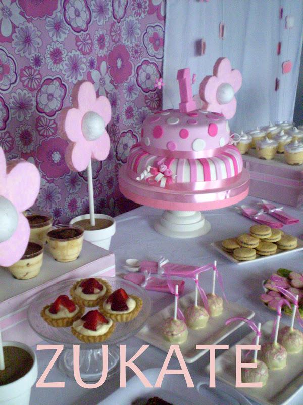 Mesa dulce primer a o y bautismo zukate - Hacer mesa dulce bautizo ...