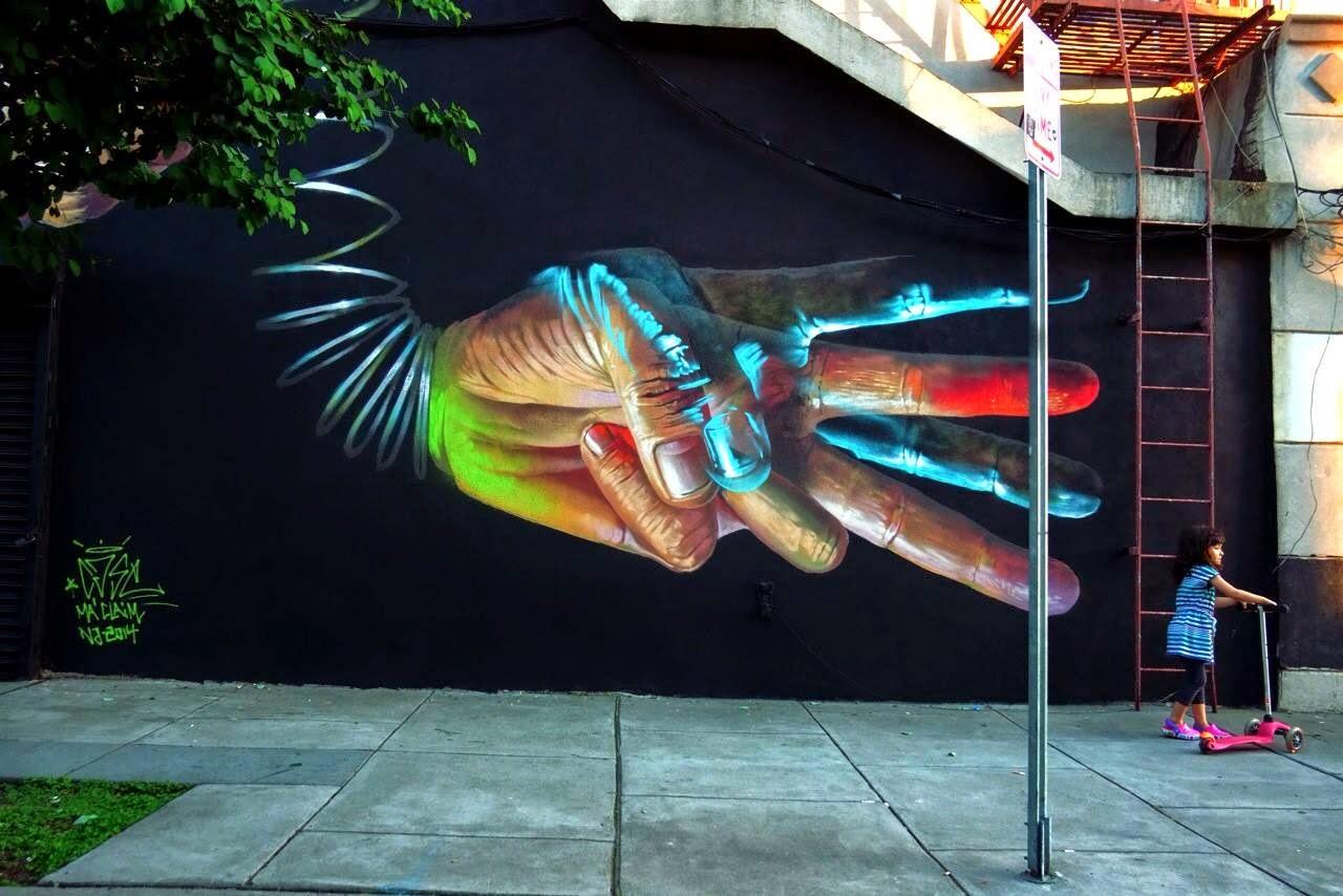 Graffiti art jersey city - Case Ma Claim New Mural Jersey City Usa