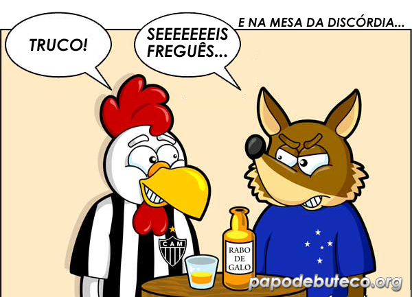 Galo leva seis do Cruzeiro, deve ser duro ser atleticano, zuando o galo, torcer pro galo é sofrer