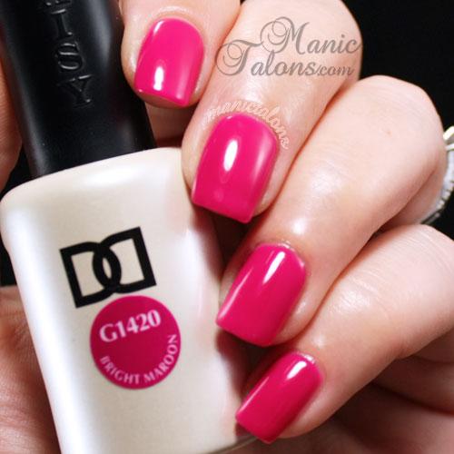 Daisy Duo Bright Maroon Swatch, gel polish, soak off gel