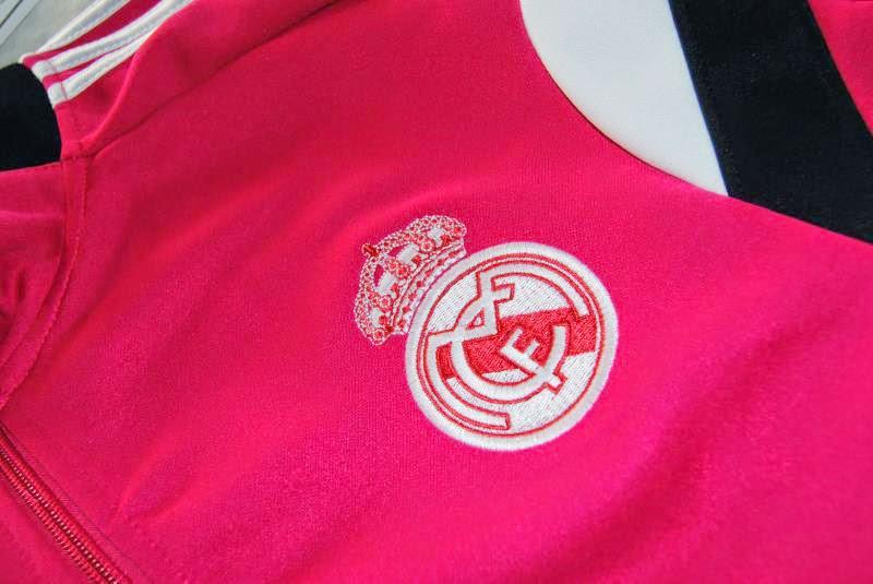 JAKET GO TRAINING REAL MADRID PINK 2014-2015