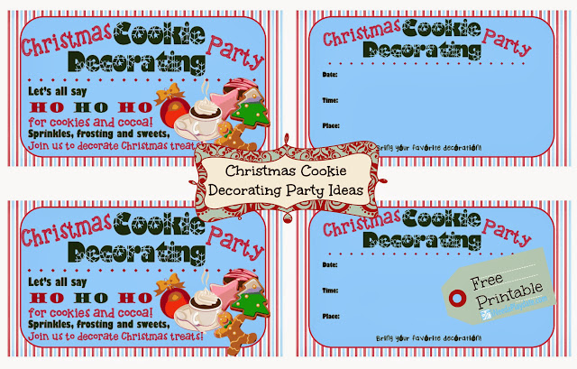 Christmas Cookie Decorating Party Free Invites via @MryJhnsn