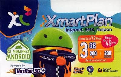 Paket Internet Android XL - XmartPlan