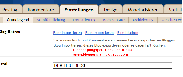Blogspot Blogger Blog sichern - Backup