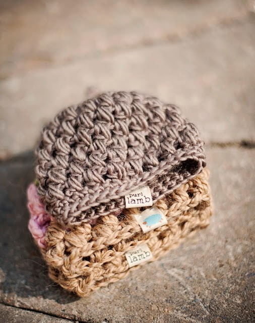 Free Crochet Pattern Baby Lovey : Crochet For Free: Purl Lamb Puffy Preemie hat