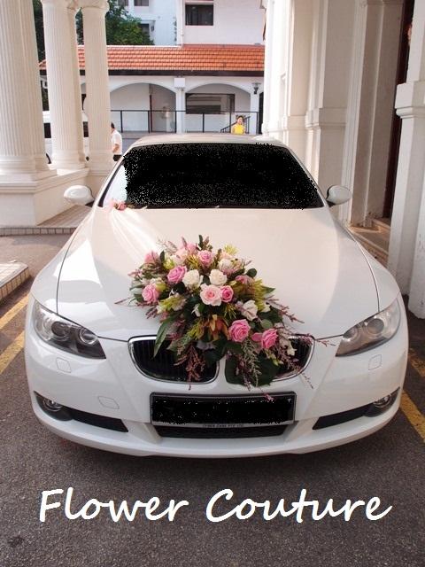Flower Wedding Car Decorations : Bridal requirements wedding car flower decoration collections