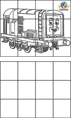 Thomas the tank engine Diesel train coloring pictures online learning games for kids learn drawing