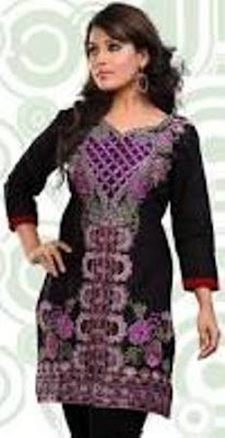 Black-Cambric-Cotton-Kurti