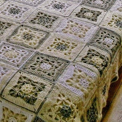 Crochet Bedspread - Tutorial and Diagram