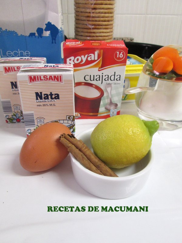 INGREDIENTES TARTA LECHE MERENGADA