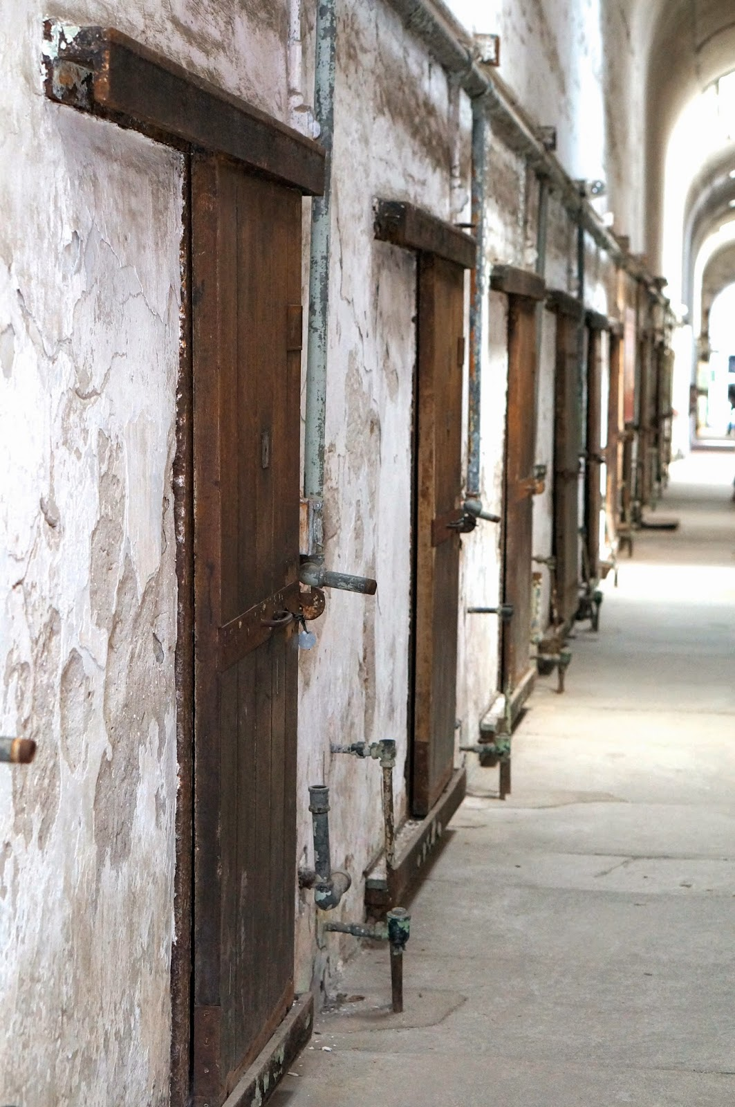 cell block, eastern state penitentiary, philadelphia
