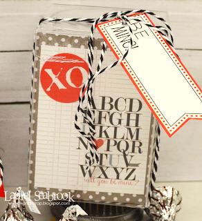 SRM Stickers Blog - Laurel Seabrook - #stickers #Valentines #labels #clear box #twine