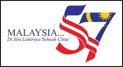logo merdeka, tema merdeka, merdeka ke-57