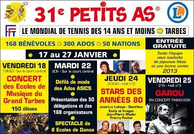 Les Petits As 2013  31e édition du tournoi international des Petits As