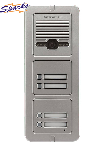 The EVMX4 4 Button Mono Video Door Entry call station