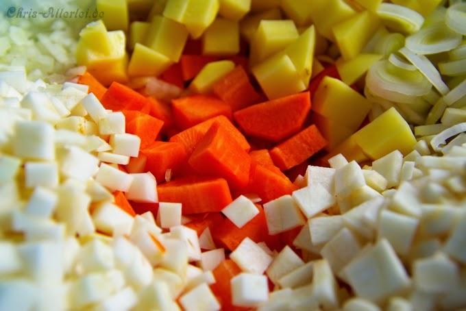 Gemüse für Möhrentopf
