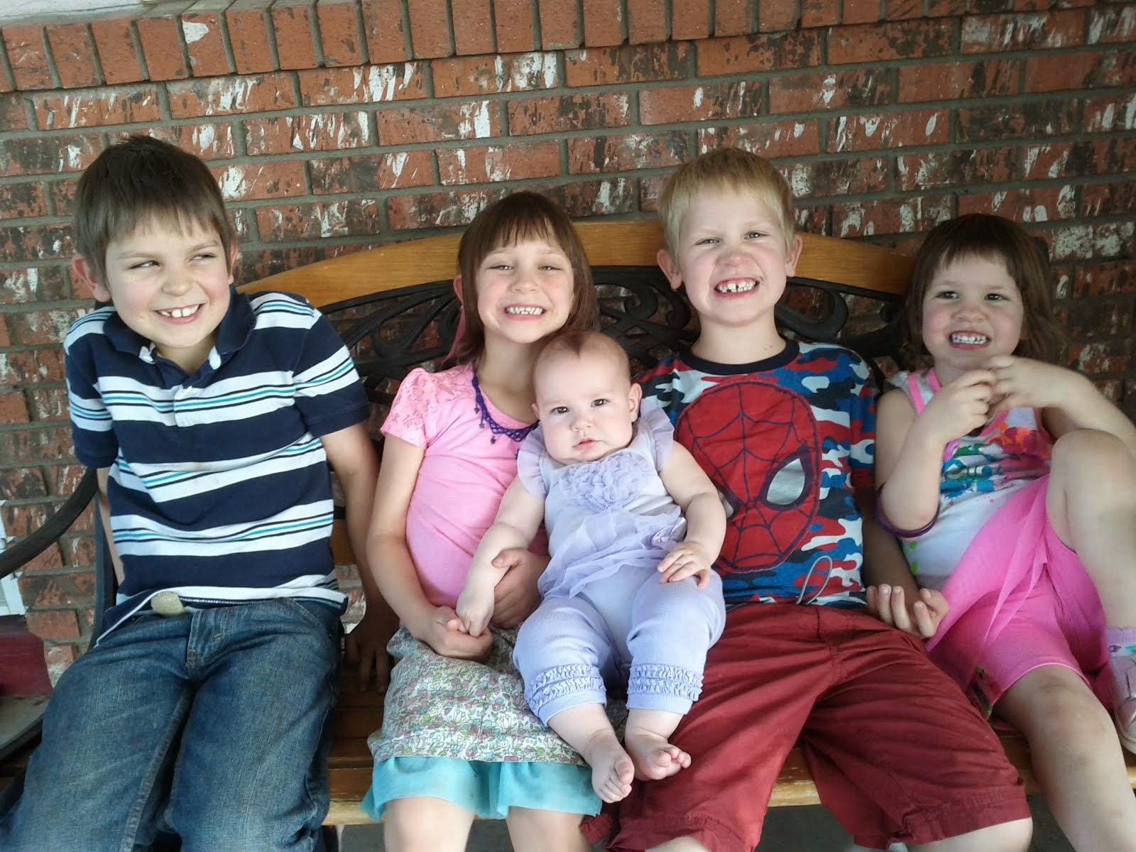 Joseph, Gabriella, Julianna, James, and Elora