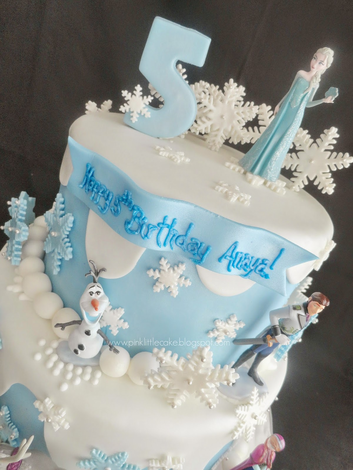 My Pink Little Cake Frozen Theme Birthday Cake