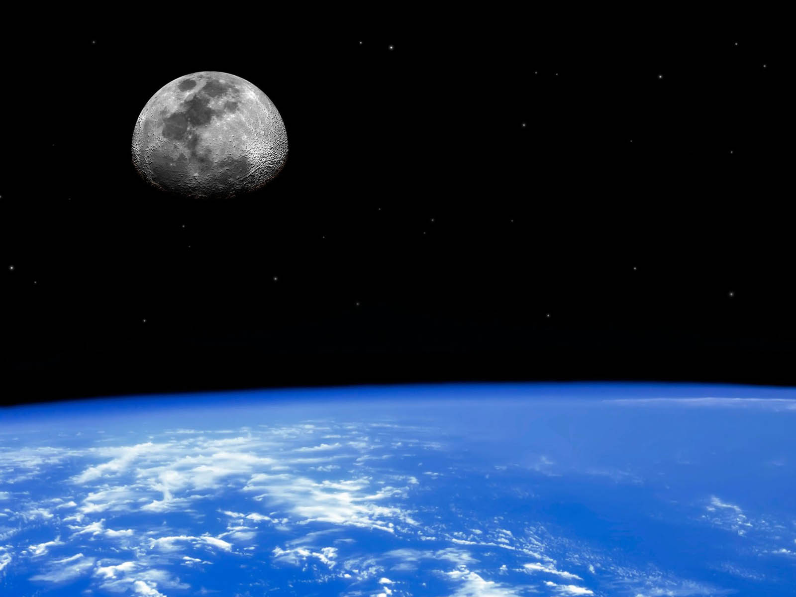 wallpapers: Earth And Moon Wallpapers Wallpapers