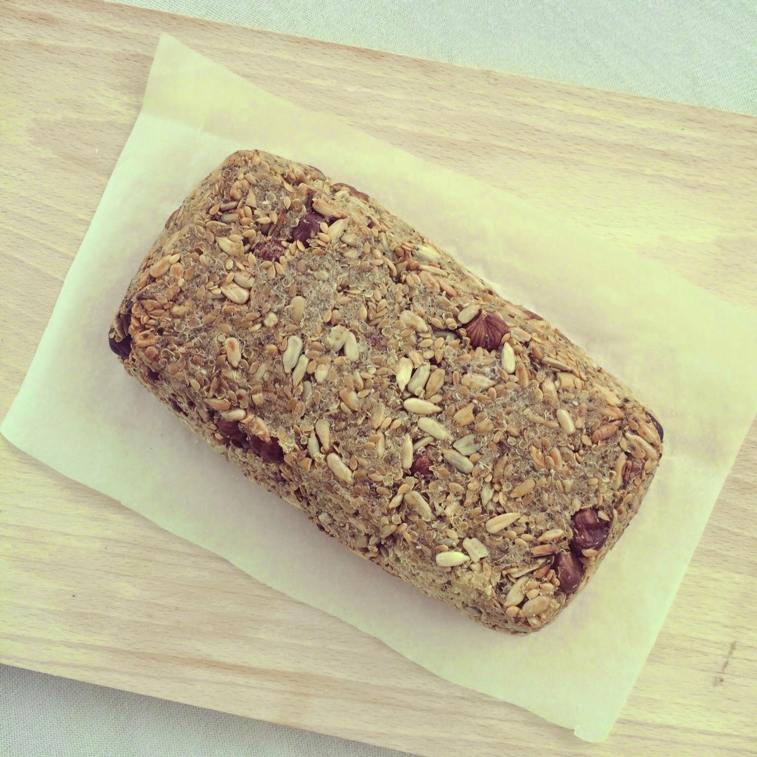 pain graines flocons de quinoa psyllium