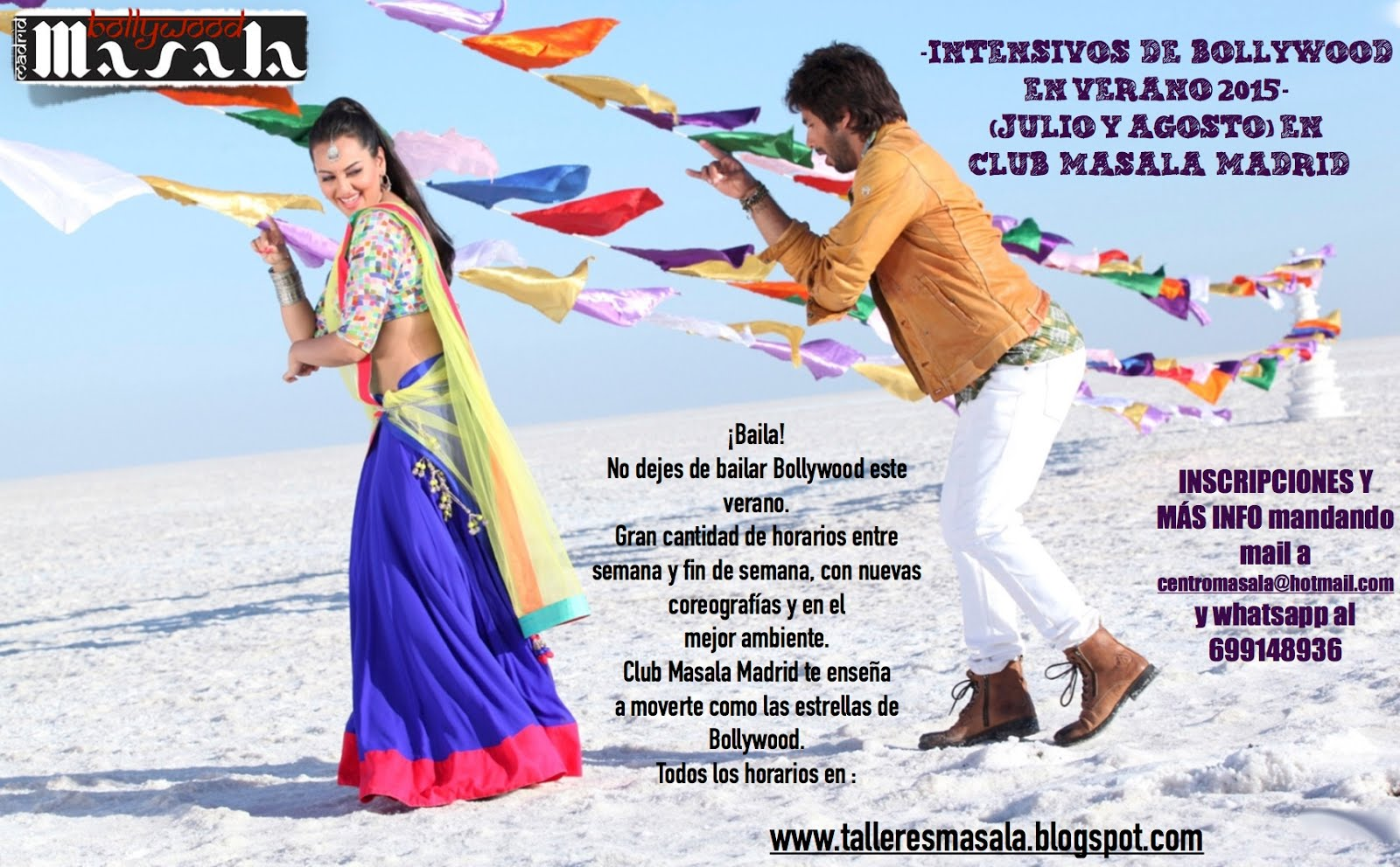 Intensivos de danza Bollywood en verano ( Julio y Agosto) con Club Masala Madrid