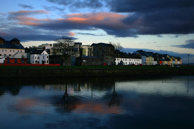 Sunset reflections during my walk on Claddagh Quay, Galway