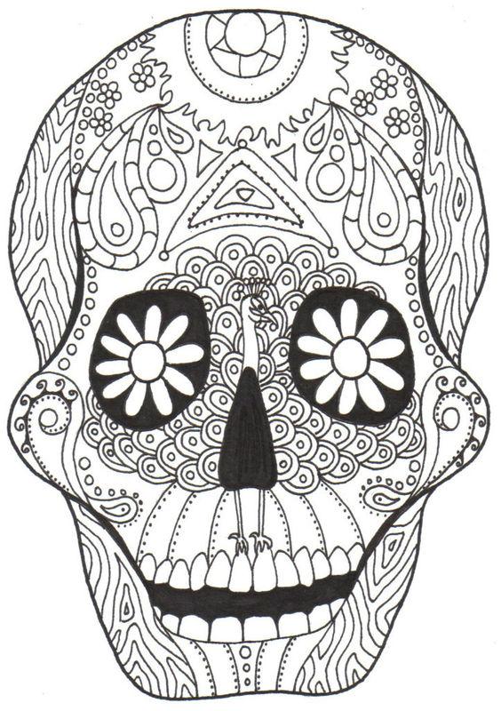 Kay Larch Studios Dia De Los Muertos Coloring Books Dia De Los Muertos Skull Coloring Pages
