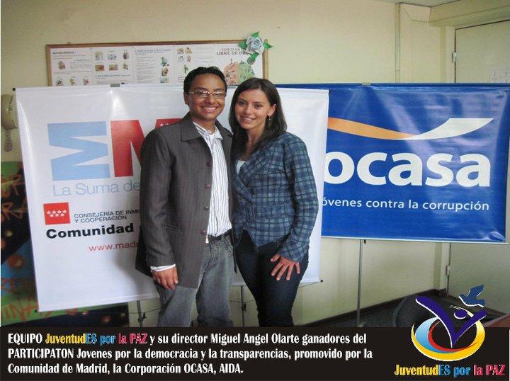Miguel Angel Olarte, Ganador Participatón; Jóvenes por la democracia y transparencia 2010