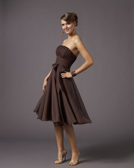 Bridesmaid dresses elegant brown bridesmaid dresses for Brown dresses for wedding