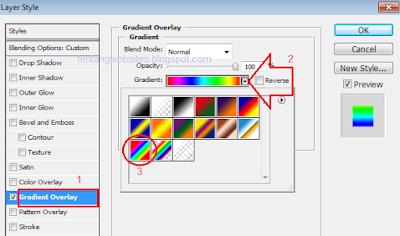 Cara membuat tulisan banyak warna