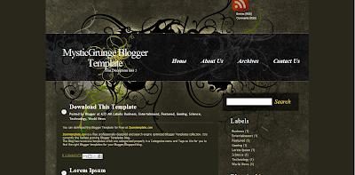 Mystic Grunge Blogger Template, Template Blog SEO