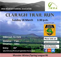 7km trail race nr Millstreet in NW Cork...Sun 8th Mar 2018